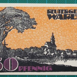1921 WAREN MUERITZ NOTGELD 50 PFENNIG