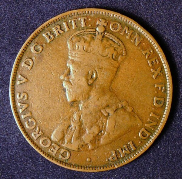 1921 Australia One Penny - King George V - B