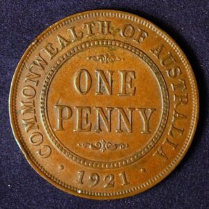 1921 Australia One Penny - King George V - C