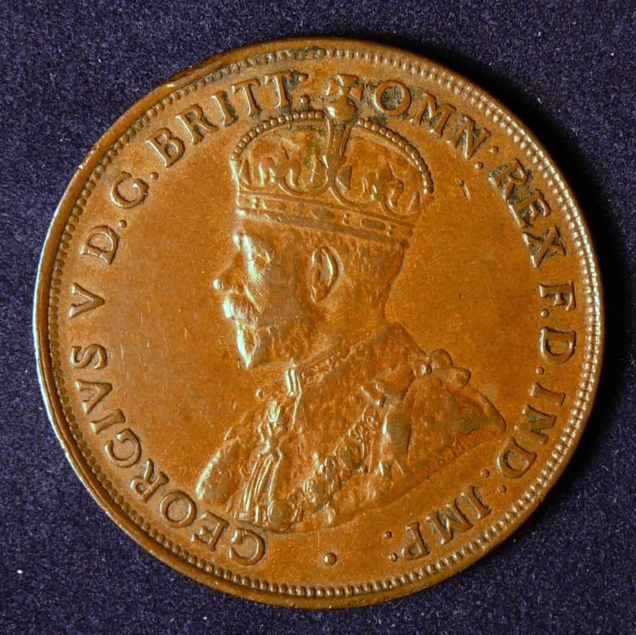 1921 Australia One Penny - King George V - C