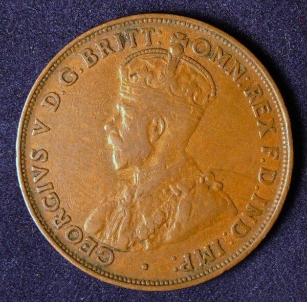 1921 Australia One Penny - King George V