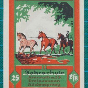 1922 CELLER QUARTETT 25 PFENNIG NOTGELD BANKNOTE