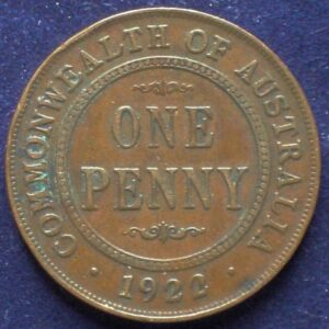 1922 Australia One Penny - King George V
