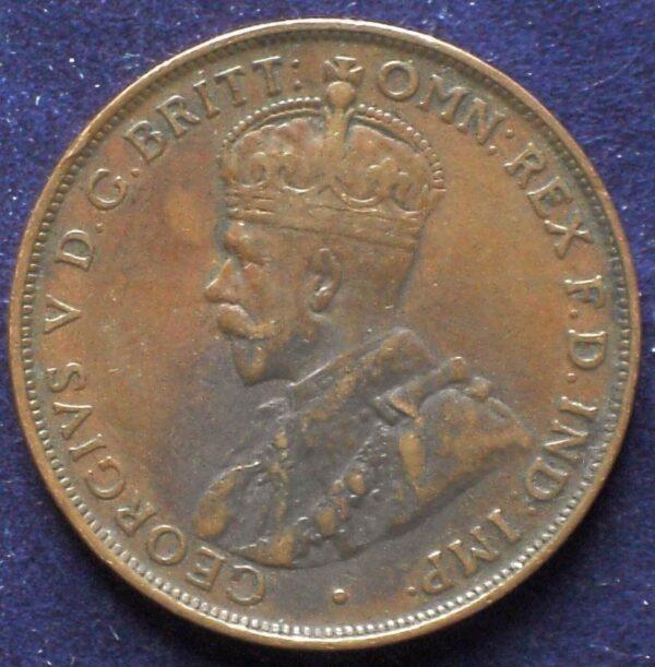 1922 Australia One Penny - King George V