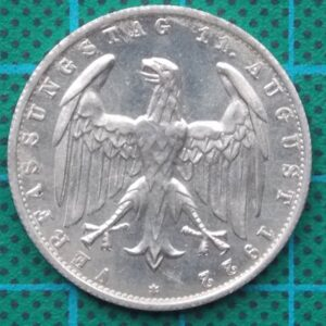 1922 DEUTSCHES REICH 3 MARK ALUMINUM COIN