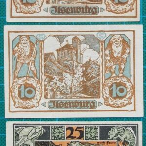 1923 ILSENBURG AM HARZ NOTGELD EMERGENCY MONEY SET