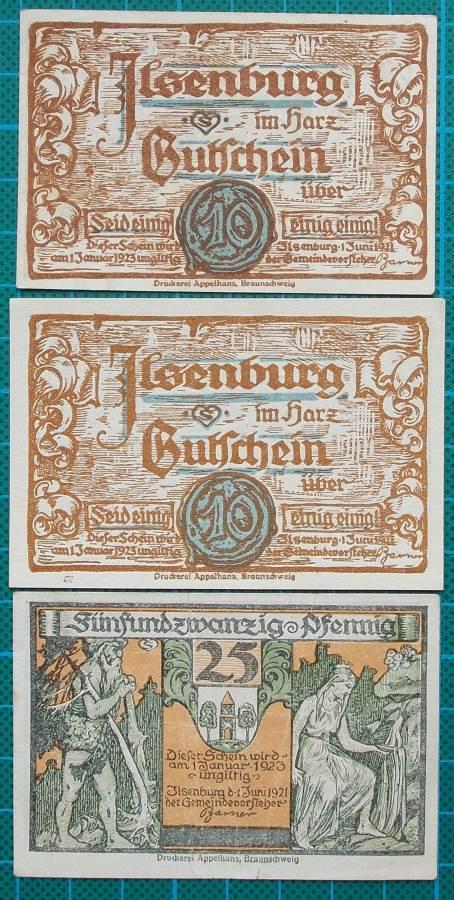 1923 ILSENBURG AM HARZ NOTGELD EMERGENCY MONEY SET