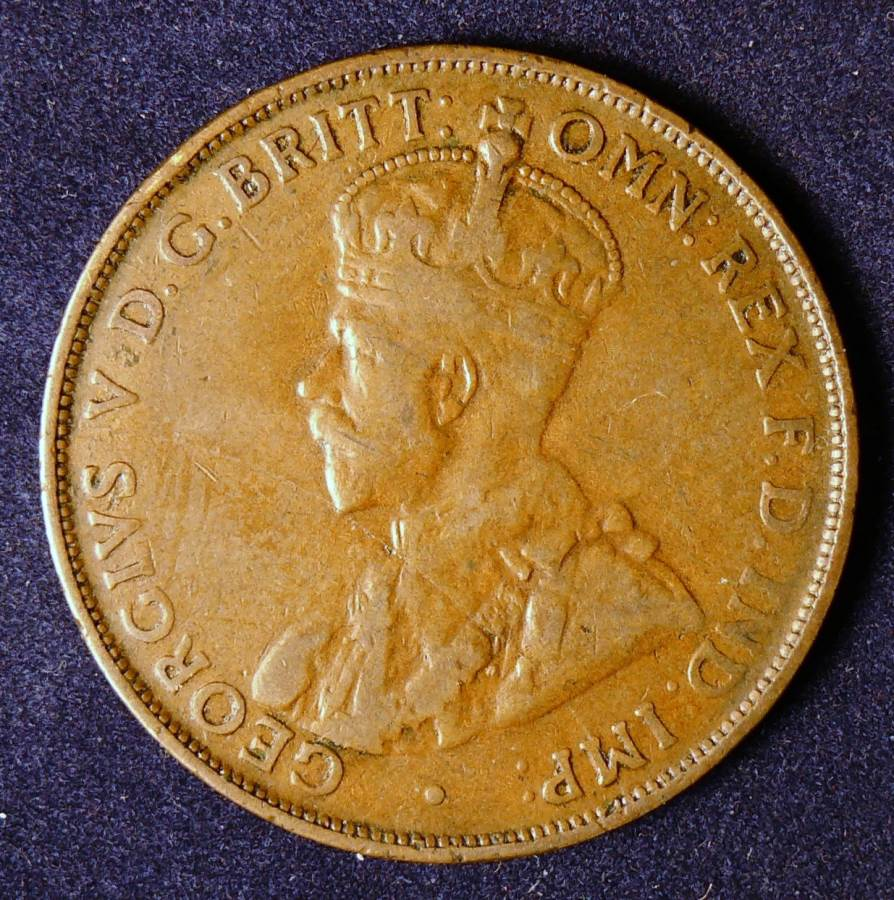 1923 Australia One Penny - King George V - A