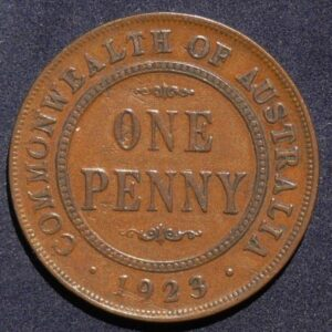 1923 Australia One Penny - King George V - B