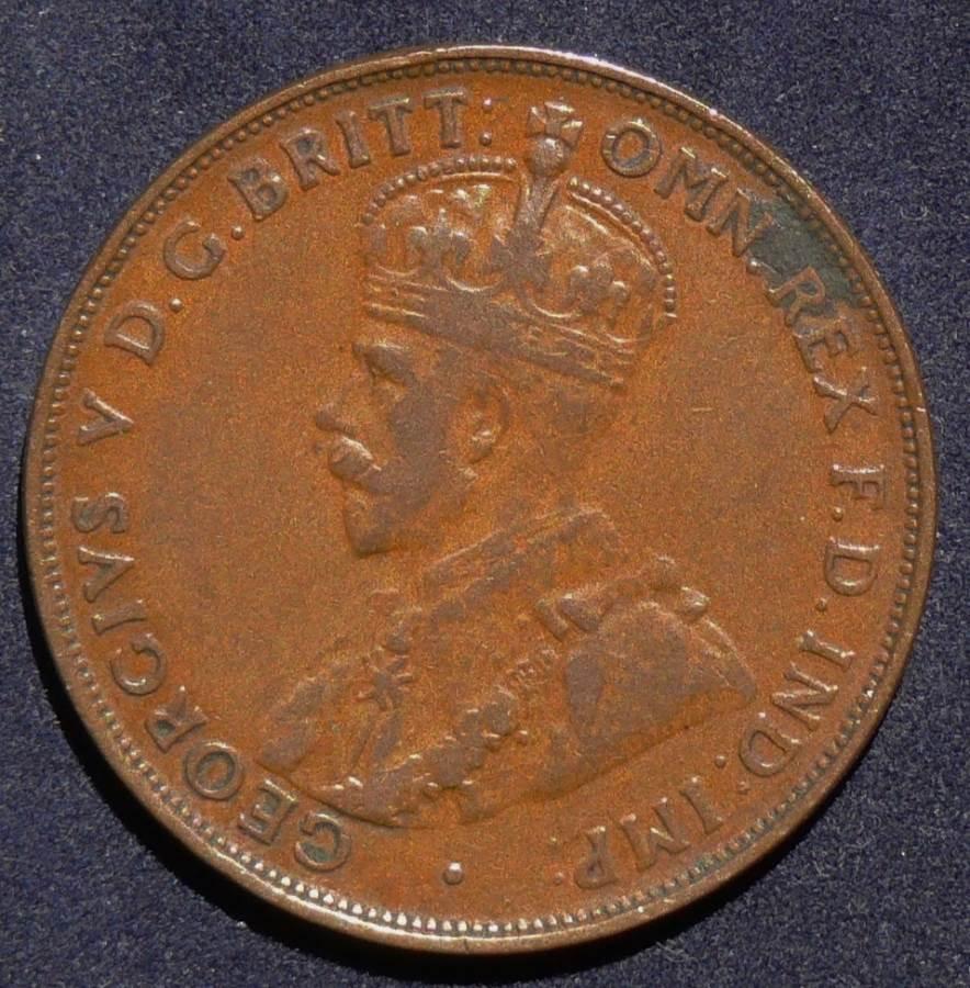 1923 Australia One Penny - King George V - B