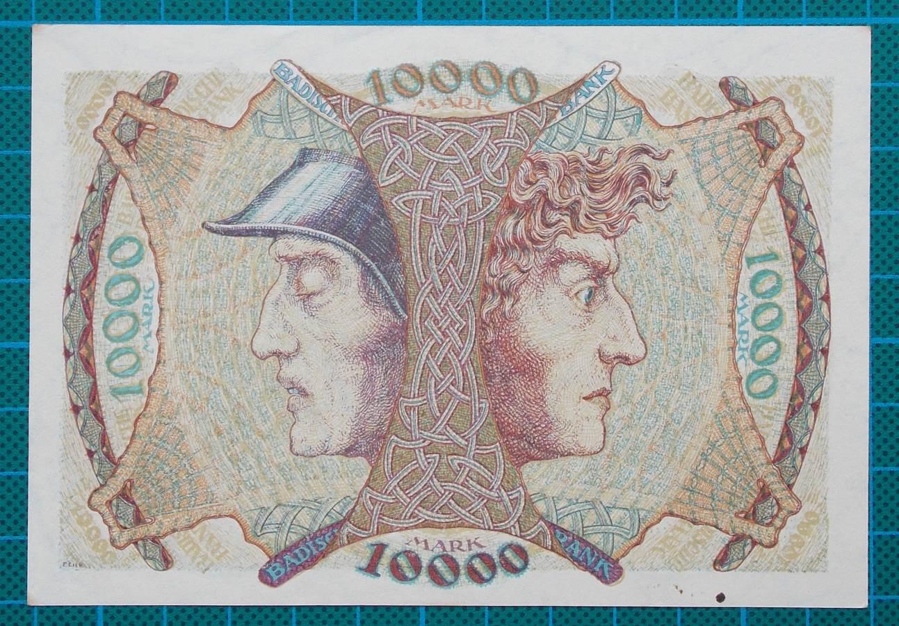 1923 BADISCHE BANK 10000 MARK 607060
