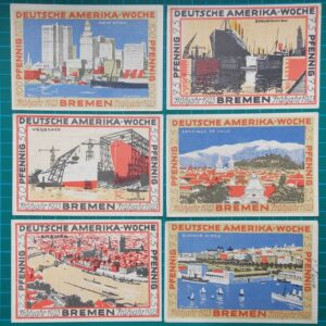 1923 Bremen German America Week 6 Note Set