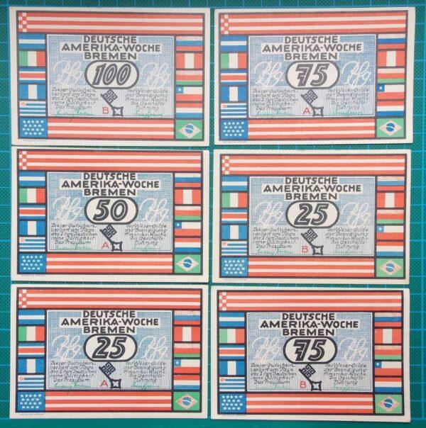 1923 Bremen German America Week 6 Note Set