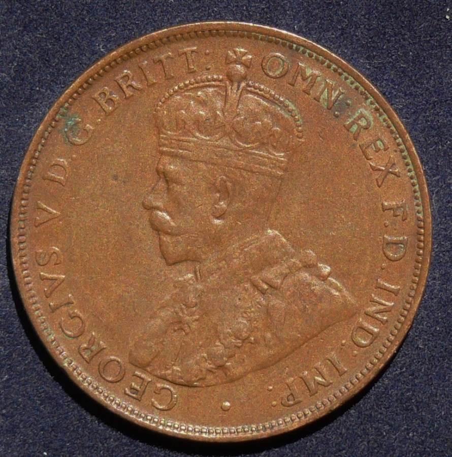 1924 Australia One Penny - King George V - A