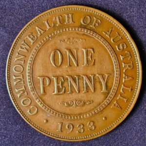 1933 Australia One Penny - King George V