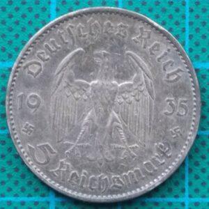 1935 DEUTSCHES REICH 5 REICHSMARK