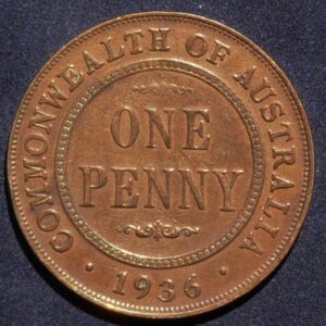 1936 Australia One Penny - King George V
