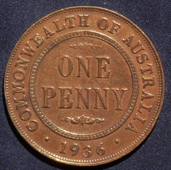 1936 Australia One Penny - King George V