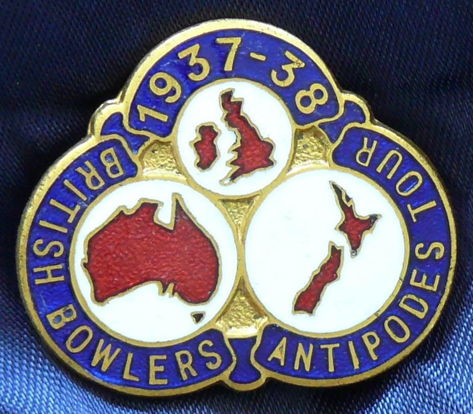 1937 - 38 British Bowlers Antipodes Tour Badge