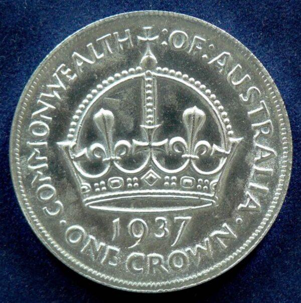 1937 Australia One Crown - King George VI - A