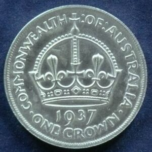 1937 Australia One Crown - King George VI - B