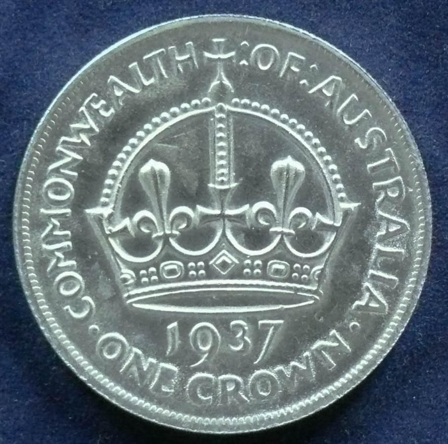 1937 Australia One Crown - King George VI - B