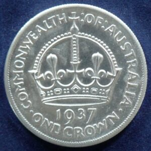 1937 Australia One Crown - King George VI - C