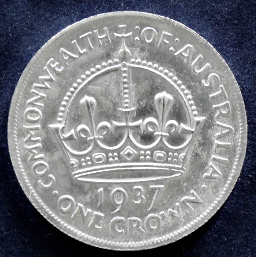 1937 Australia One Crown - King George VI - D
