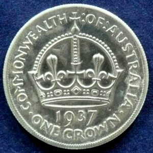 1937 Australia One Crown - King George VI - E