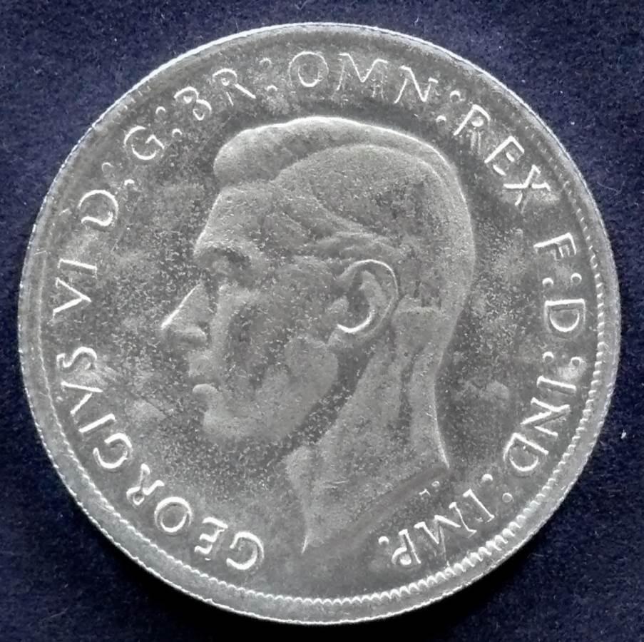1937 Australia One Crown - King George VI - E