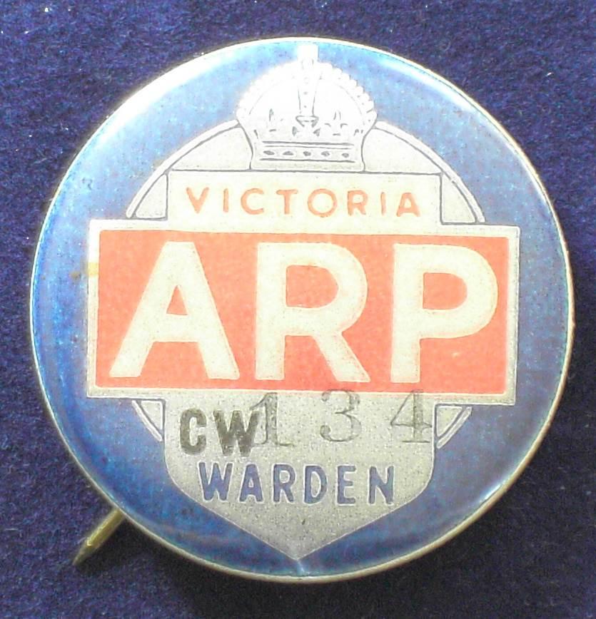 1939 Australia - ARP Wardens Badge