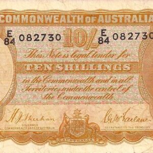 1939 Australia Ten Shillings - E84