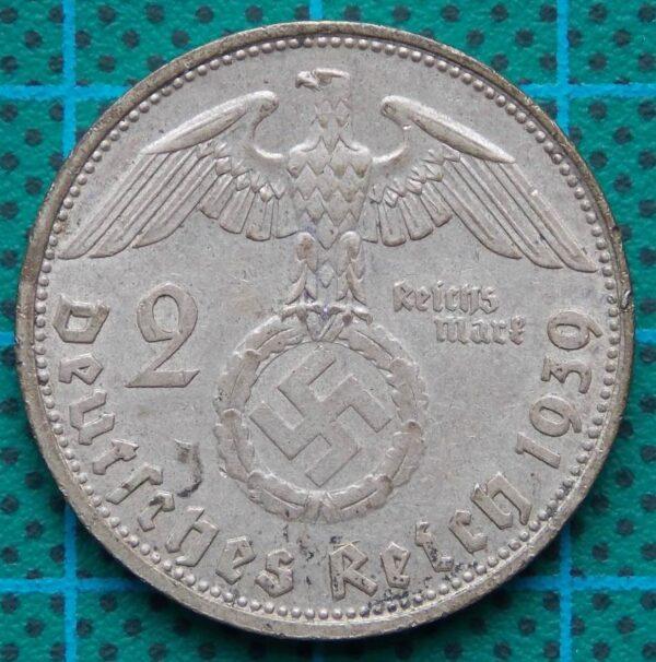 1939 DEUTSCHES REICH 2 REICHMARK