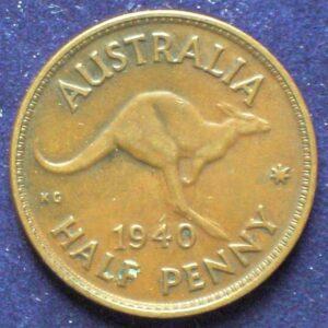 1940 Australia Half Penny - King George VI