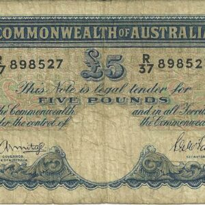 1941 Australia Five Pounds - R 37