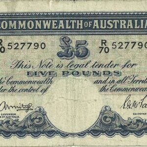 1941 Australia Five Pounds - R 70
