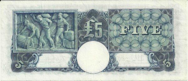 1941 Australia Five Pounds - R 84 Last Prefix