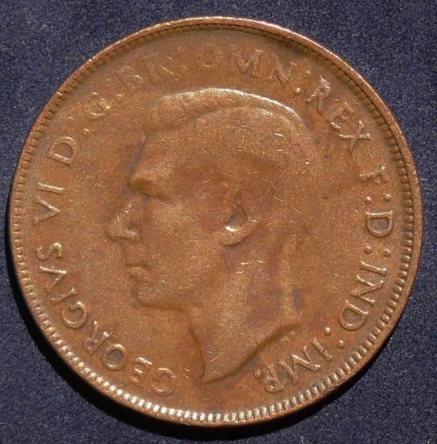 1942 Australia One Penny - King George VI