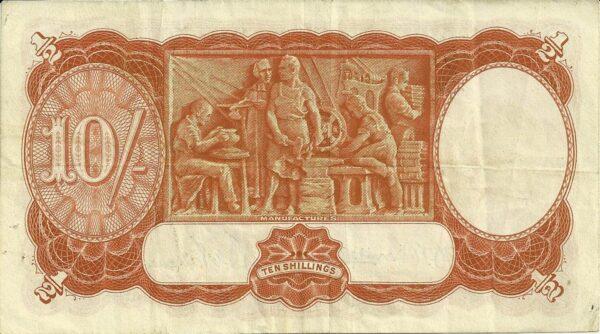 1942 Australia Ten Shillings - F28