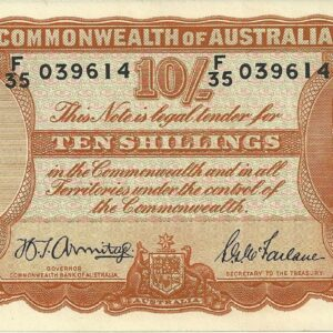 1942 Australia Ten Shillings - F35