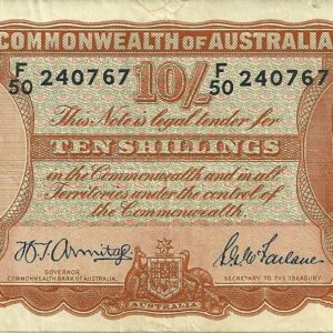 1942 Australia Ten Shillings - F50