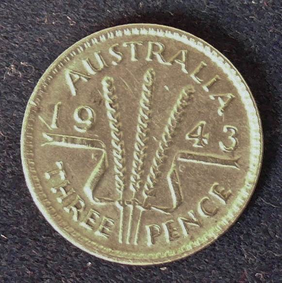 1943 Australia Threepence - King George VI