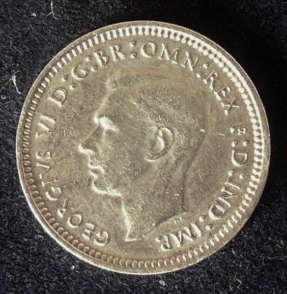 1943 Australia Threepence - King George VI