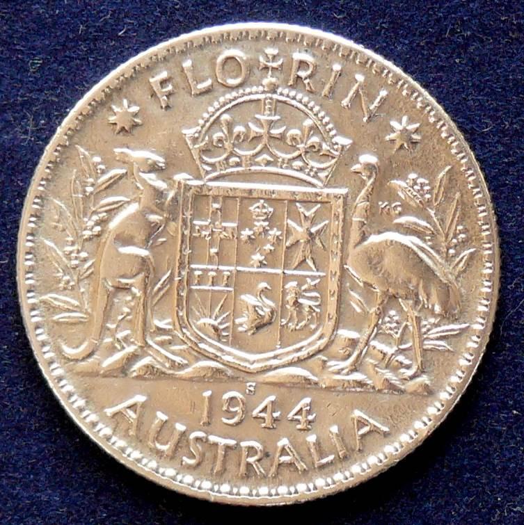 1944 Australia Florin - King George VI