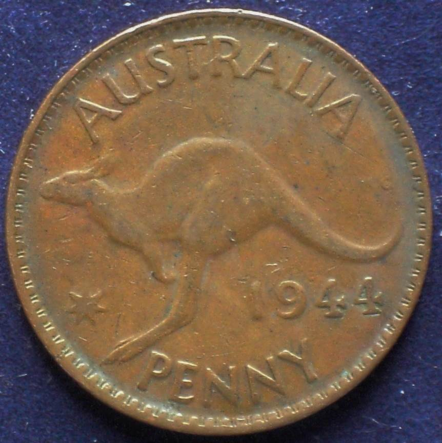 1944 Australia One Penny - King George VI