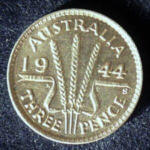 1944 Australia Threepence - King George VI - A