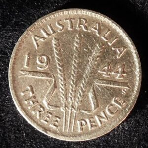 1944 Australia Threepence - King George VI - B