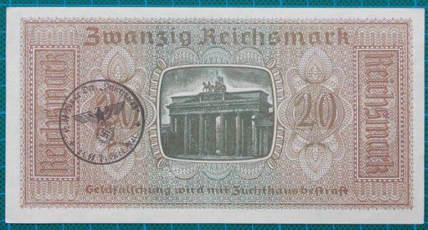 1945 REICHSKREDITKASSEN 20 MARK L7963860