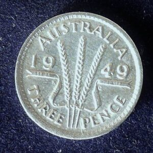 1949 Australia Threepence - King George VI
