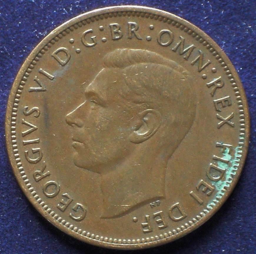 1951 Australia One Penny - King George VI
